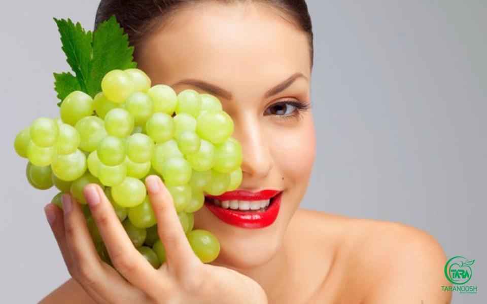 فواید انگور برای پوست و مو